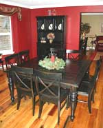 Home Furniture Black and Cherry Series - Extension Dining Table 2002