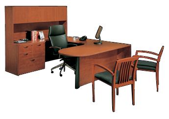 Used Office Desks CHERRYMAN Amber U Desk