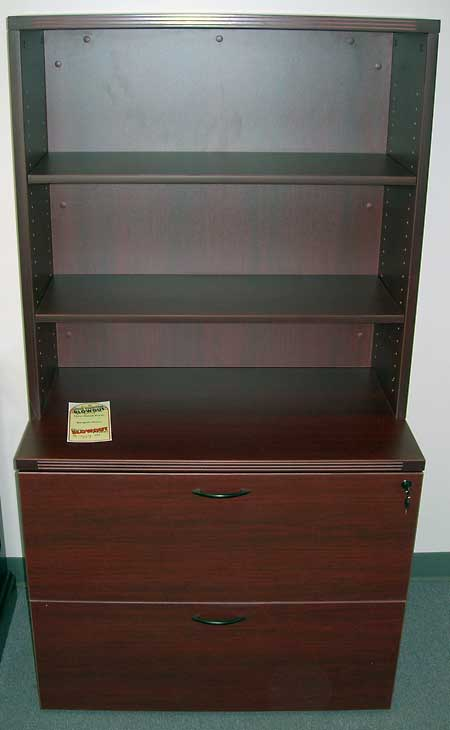 Lateral Files Cherryman 2 Drawer Lateral and Hutch