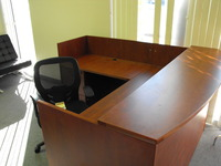Reception Desks New Cherryman 6 x 6.5  reception desk