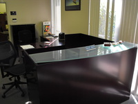 Reception Desks New L-shape reception desk w/glass top