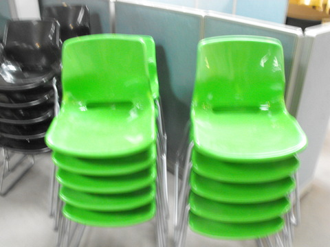 Stacking Chairs green stacking chairs