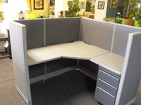 Cubicles refurbished Haworth 5x5 cubicles
