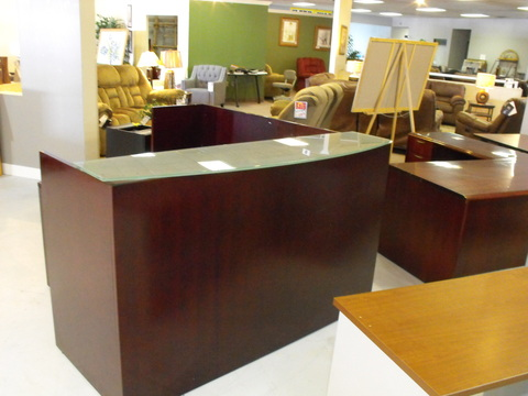Reception Desks Used Veneer Reception desk