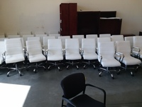 Executive/Task Chair White leather conference chairs